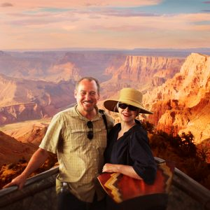 Amy and Mr.D at the Grand Canyon South Rim taken by Southwest Discovered