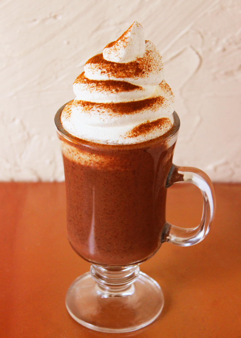 Spiked Mexican Hot Chocolate with Masa taken by Southwest Discovered