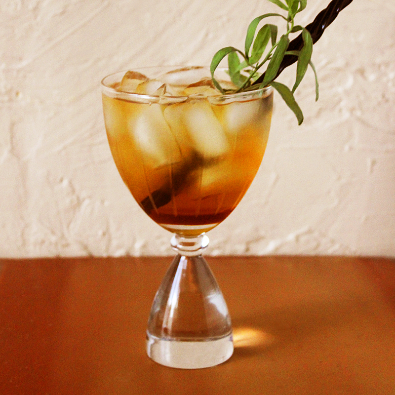 Smoky Tea-Quila Cocktail with Tarragon and Black Licorice taken by Southwest Discovered