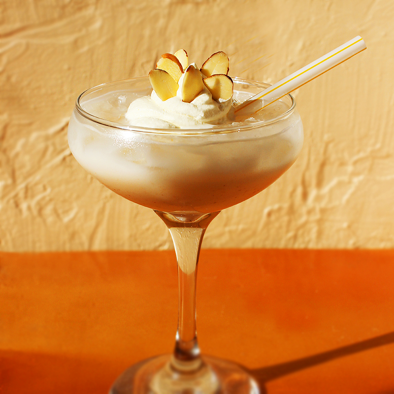 Spiked Hazelnut Horchata with Frangelico taken by Southwest Discovered