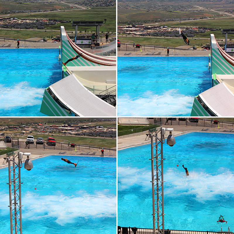 Practice pool for ski jumpers.