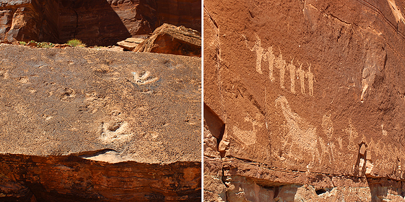 Dinosaur Tracks and Petroglyphs