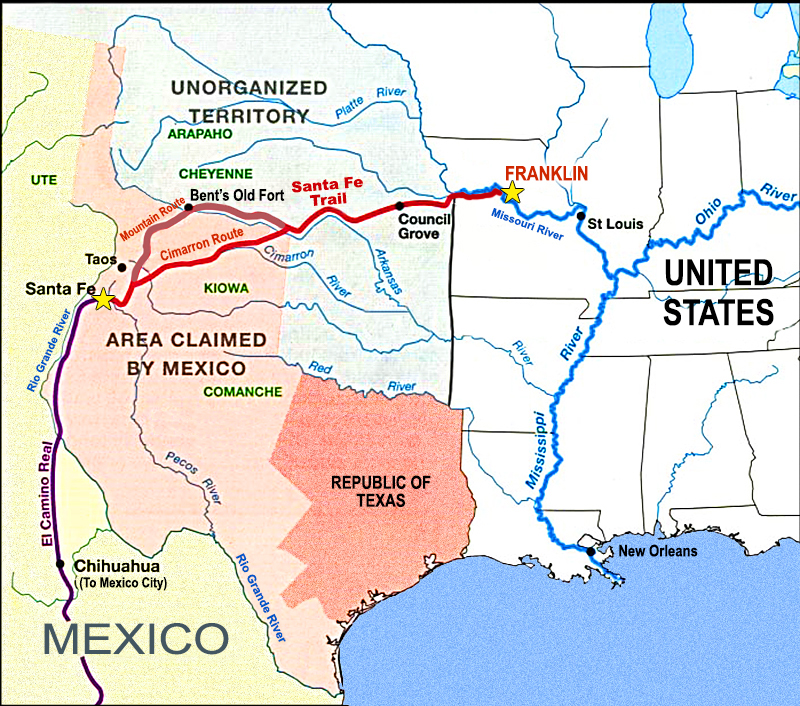 The Santa Fe Trail - Where It All Began | Southwest Discovered on paris museums map, contact us map, espanola map, clayton ok map, shopping map, philadelphia museums map, boston museums map, chicago museums map,