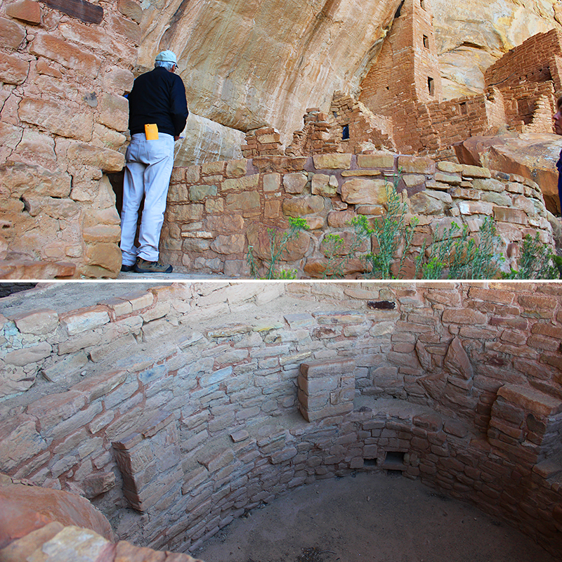 Man Looking into Kiva