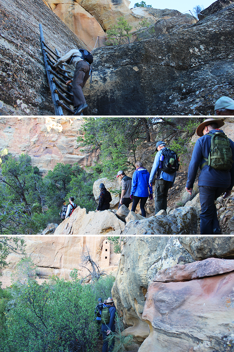 Tour Group Hiking to Square Tower House 4